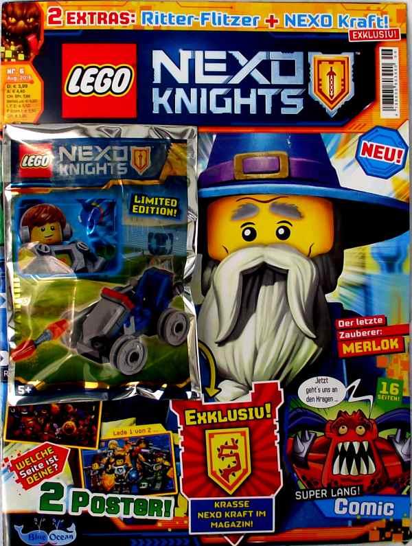 LEGO® Nexo Knights Magazin mit Zubehör Nr.06/16 August