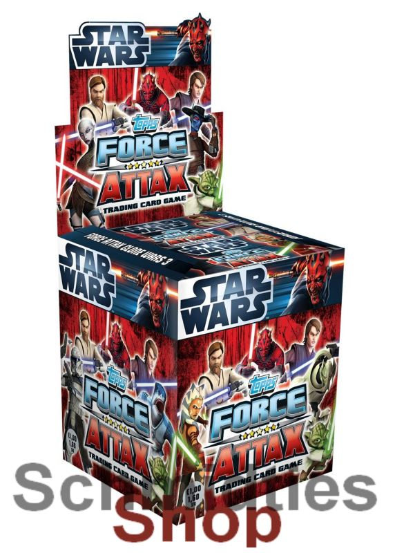 Topps Star Wars - Force Attax Serie 3 - 100er Display