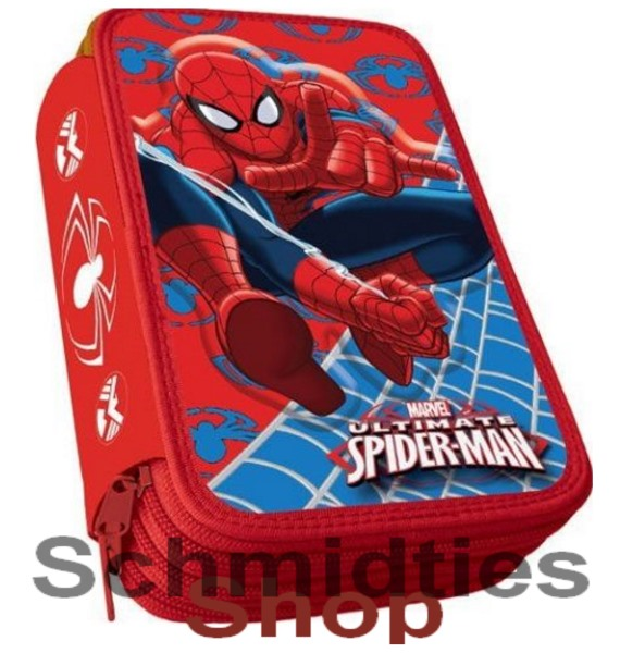 ®Marvel Unltimate Spiderman Triple Federmappe - 43 Teilig