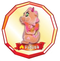 Safiras Drachen II - Funkelstein - Feuerdrachen - Fidusa