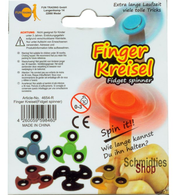 Fidget Spinner - Finger Kreisel - Model 01 - Orange