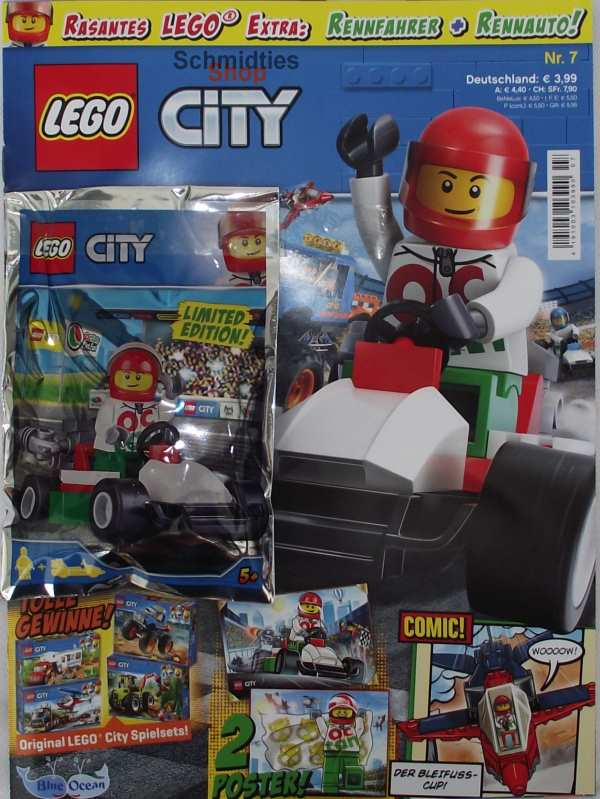 LEGO® City - Sonderausgabe mit Rennfahrer & Rennwagen Nr.07/18