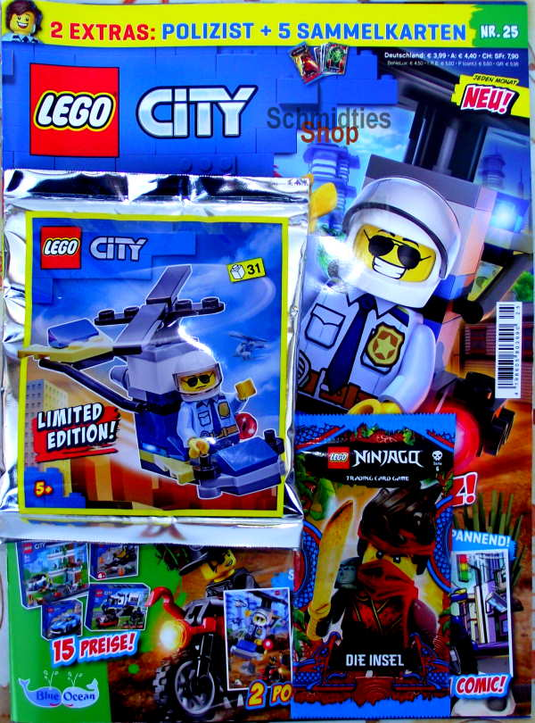 LEGO® City - mit Polizist mit Helikopter Nr.25-20