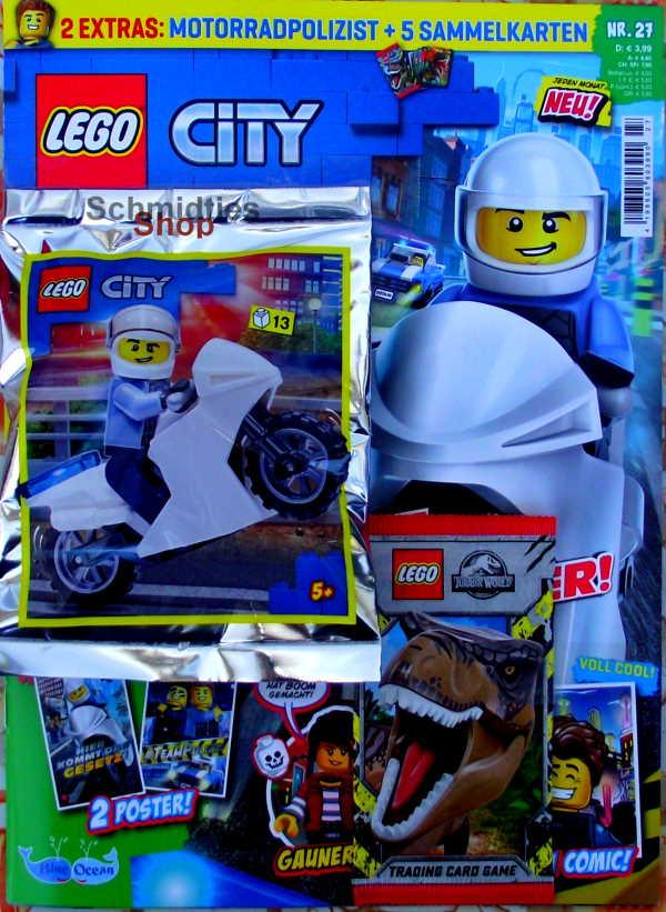 LEGO® City - mit Motorradpolizist und Motorrad Nr.27-21