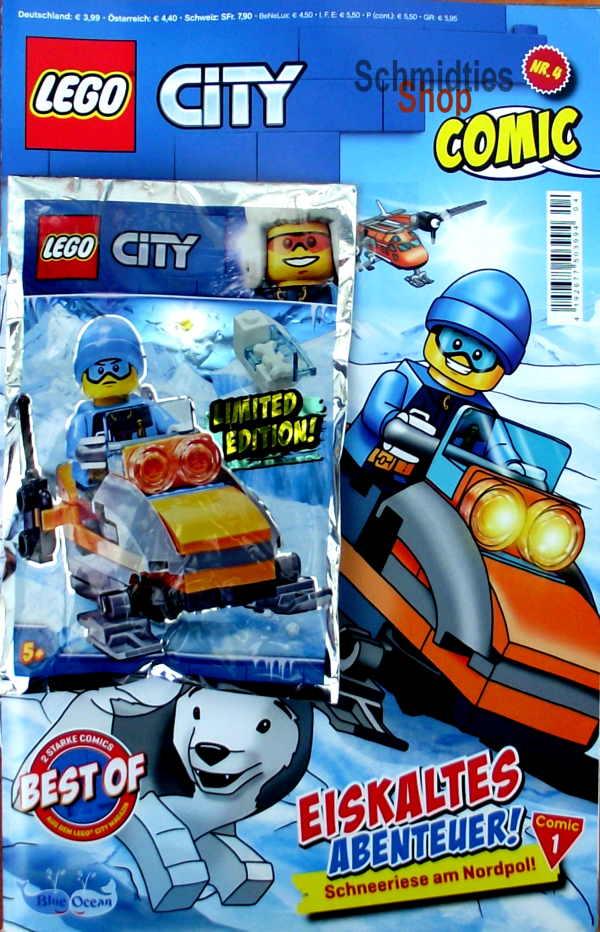 LEGO® City Comic Nr.04/2019 - Eisforscher mit Schneemobil