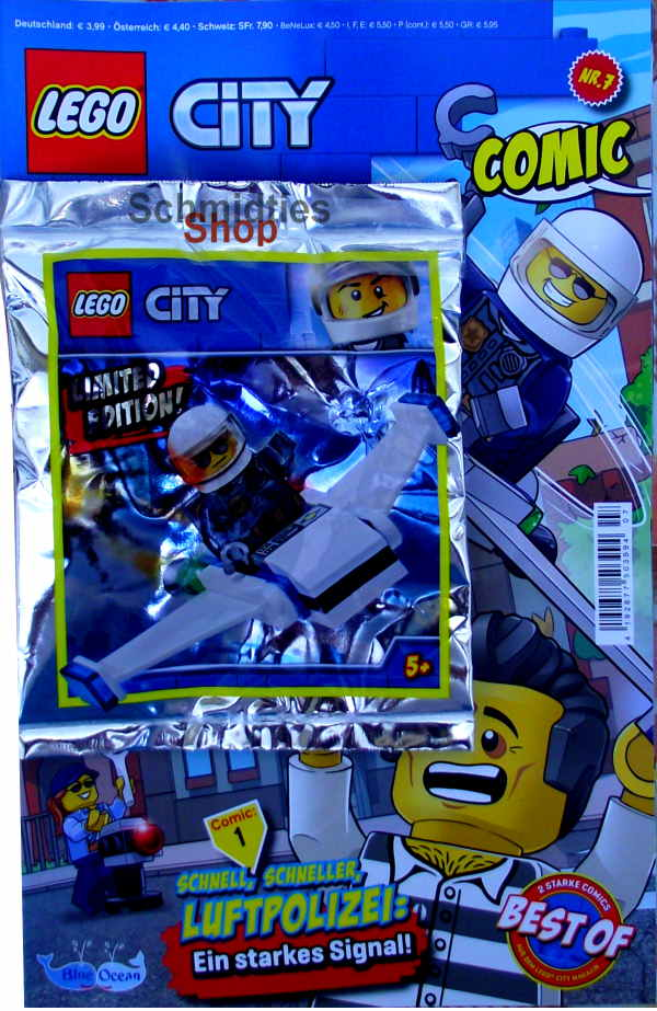 LEGO® City Comic Nr.07/2020 - Polizist mit Mini-Jet