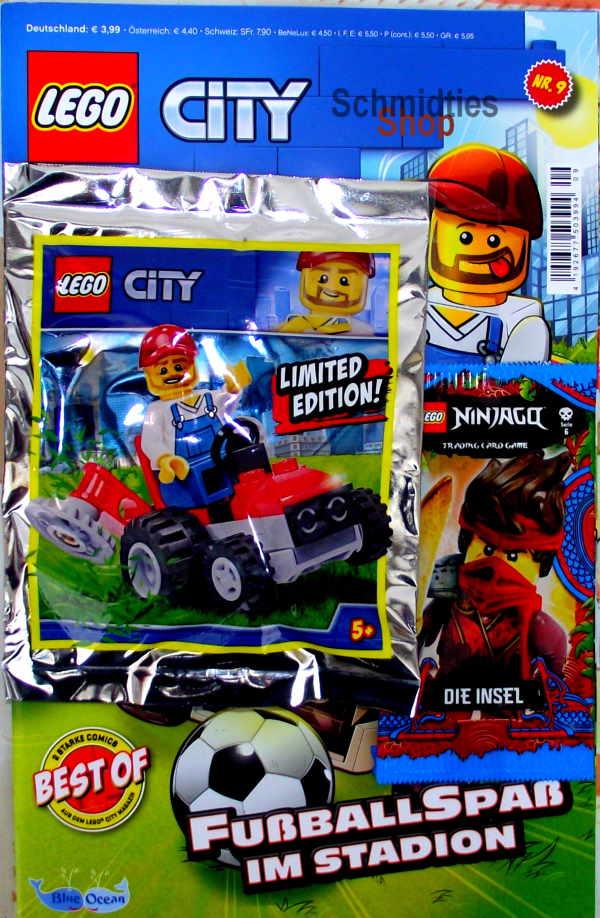 LEGO® City Comic Nr.09/2021 - Gärtner mit Rasenmäher
