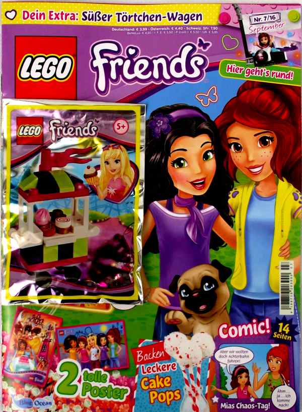 LEGO® Friends Magazin mit Zubehör Nr.07/16 September