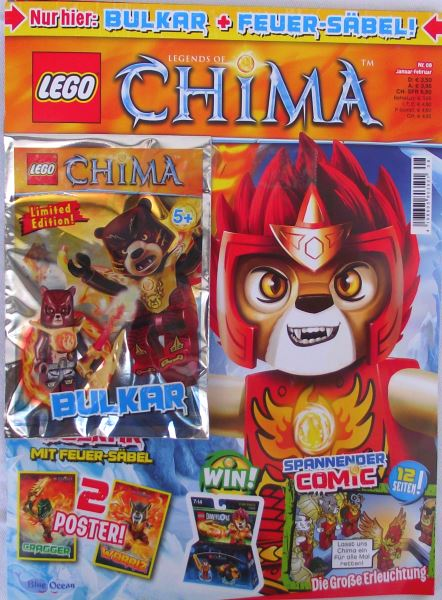 LEGO® Legends of Chima TM mit Zubehör Nr.08/15 Jan./Feb.