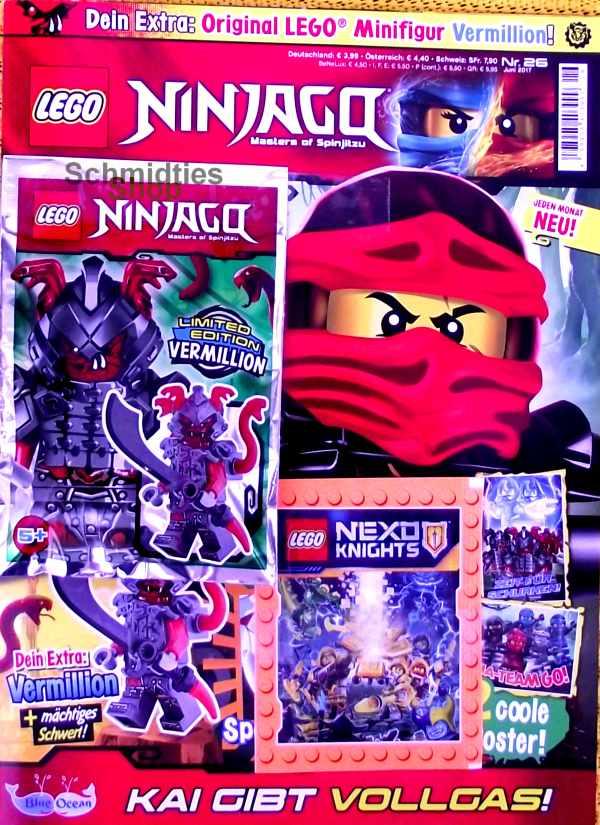 LEGO® NINJAGO Magazin mit Zubehör Nr.26/17 Juni