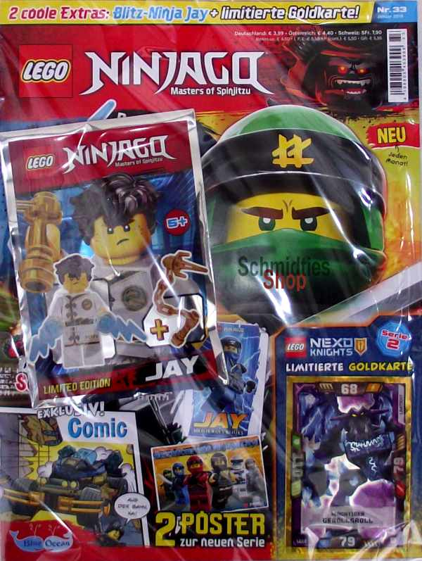 LEGO® NINJAGO Magazin mit Zubehör Nr.33/18 Januar