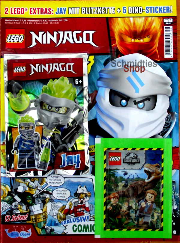LEGO® NINJAGO Magazin mit Zubehör Nr.58/20 Januar