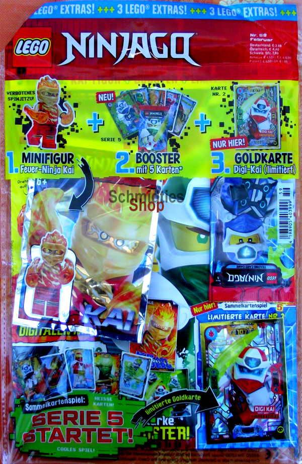 LEGO® NINJAGO Magazin mit Zubehör Nr.59/20 Februar