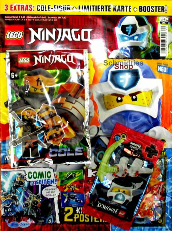 LEGO® NINJAGO Magazin mit Zubehör Nr.62/20 Mai