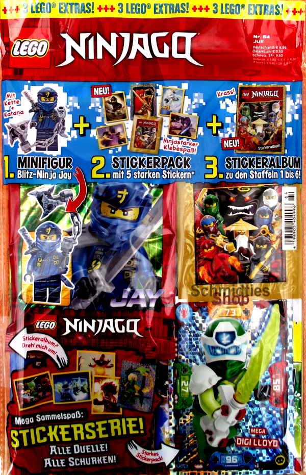 LEGO® NINJAGO Magazin mit Zubehör Nr.64/20 Juli