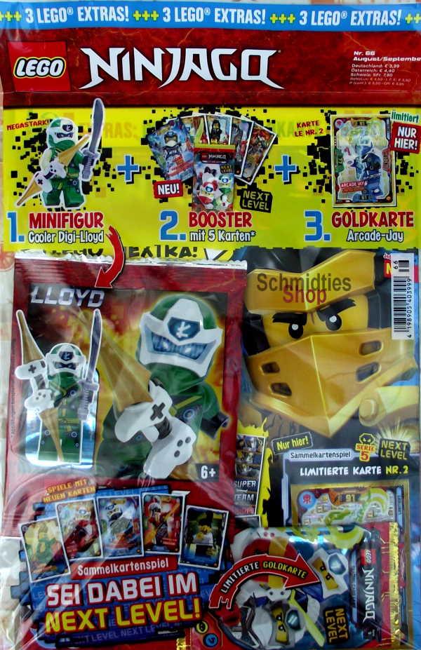 LEGO® NINJAGO Magazin mit Zubehör Nr.66/20 Aug./Sept.