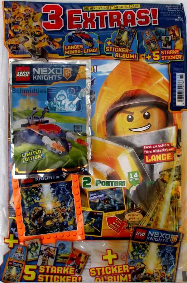 LEGO® Nexo Knights Magazin mit Zubehör Nr.15/17 Mai