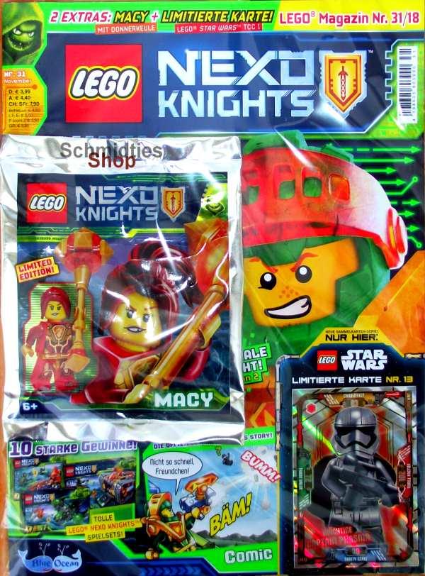 LEGO® Nexo Knights Magazin mit Zubehör Nr.31/18 November