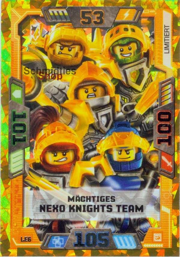 LEGO® NEXO KNIGHTS - Serie 2 - 1 x Limitierte Goldkarte LE-6