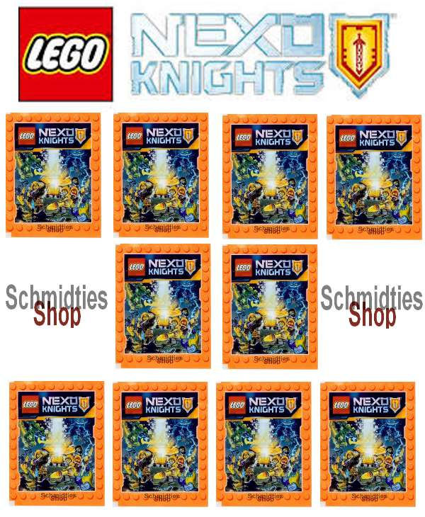 LEGO® NEXO KNIGHTS™ - 10 Sticker Tüten a' 5 Sticker