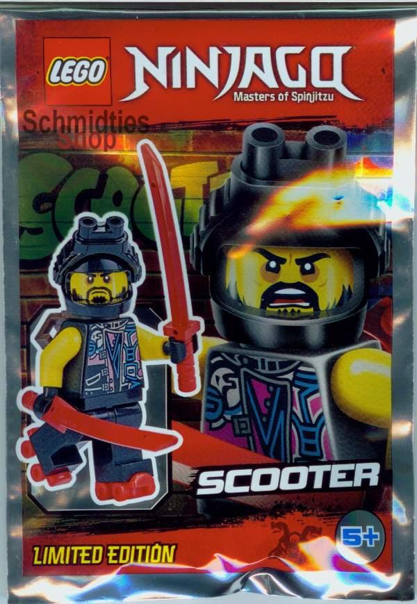 LEGO® NINJAGO™- Scooter mit 2 Schwerter, Nachtsichtgerät & Skate