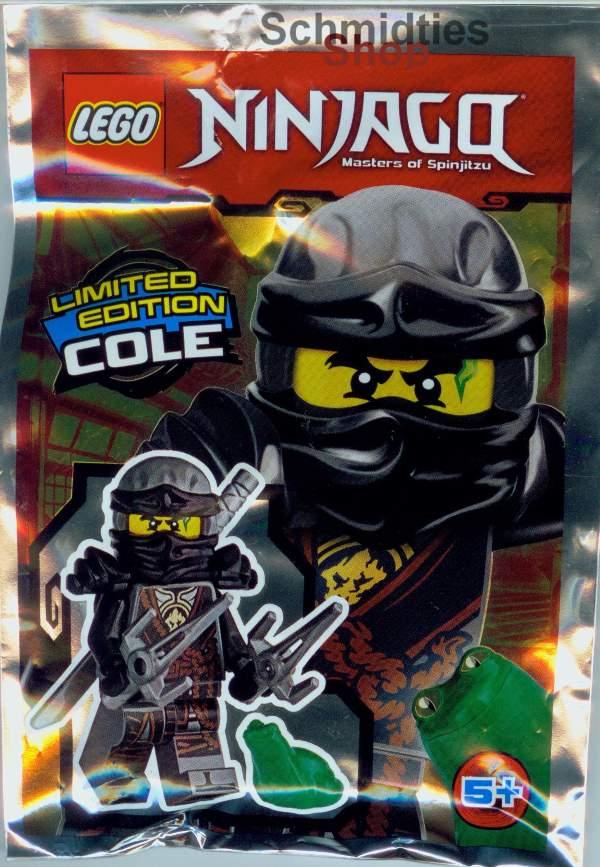 LEGO® NINJAGO™- Cole mit Schwert, 2 Sai und Frosch Limitiert