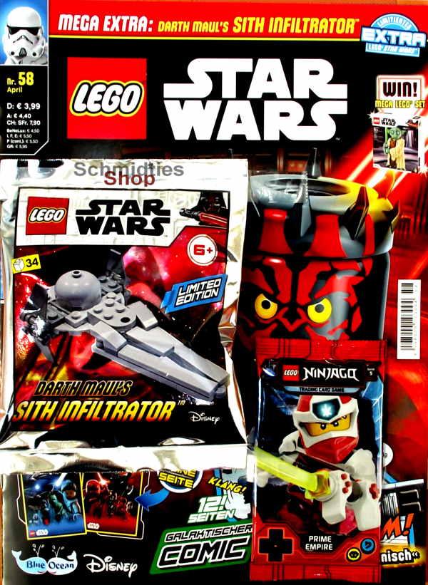 LEGO® StarWars Magazin mit Zubehör Nr.58-20 April