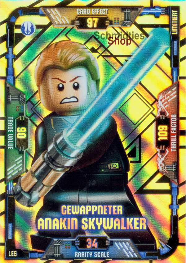 LEGO®Star Wars Limitierte Karte - Gewappneter Anakin Skywalker