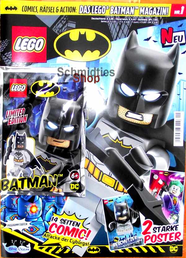 LEGO® Batman Magazin mit Minifigur Batman Nr.01/19