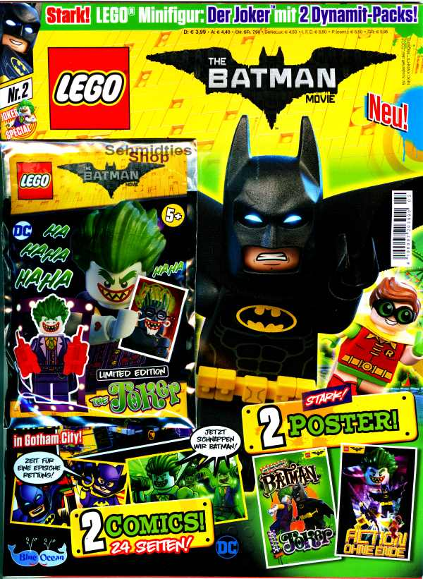 LEGO® The Batman Movie Magazin mit Minifigur Jocker Nr.02/17