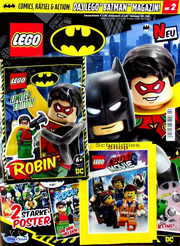 LEGO® Batman Magazin mit Minifigur Batman Nr.02/19