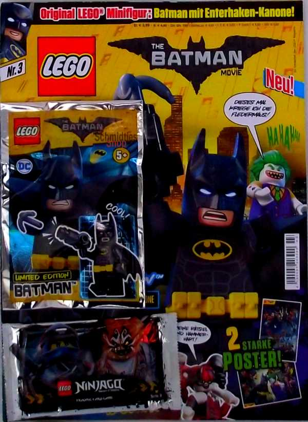LEGO® The Batman Movie Magazin mit Minifigur Batman Nr.03/18