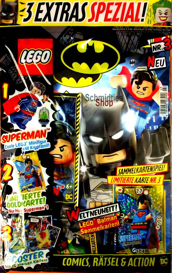 LEGO® Batman Magazin mit Minifigur Superman Nr.03/19