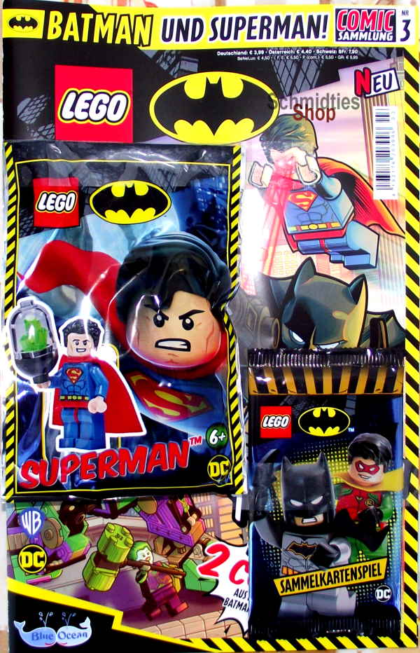 LEGO® Batman Comic mit Minifigur Superman Nr.03/20 Aktuell!