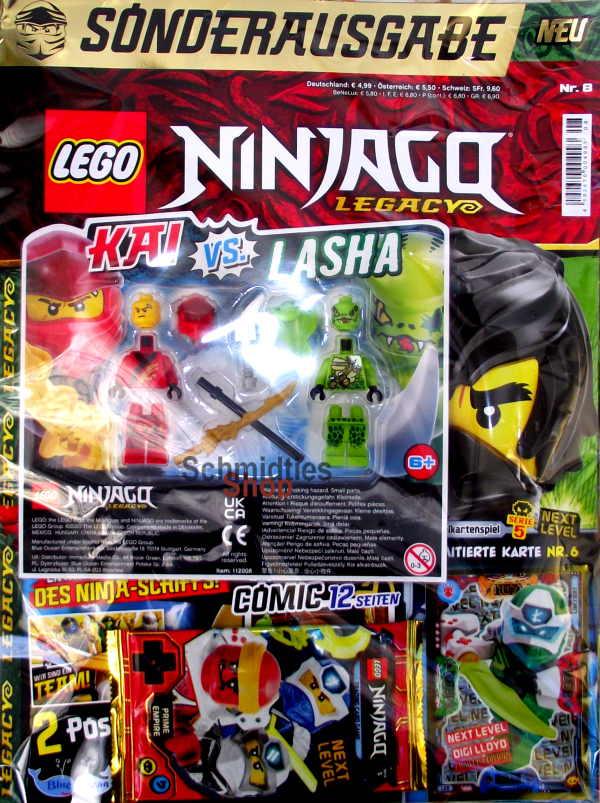 LEGO® NINJAGO Legacy Magazin mit Zubehör Nr.08/20