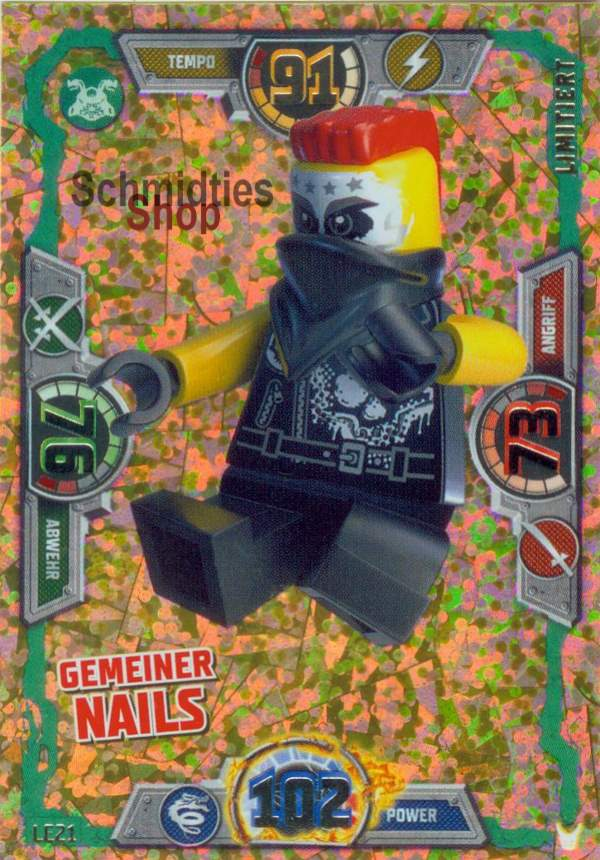 LEGO®NINJAGO Limitierte Goldkarte S-3 Gemeiner Nails LE-21