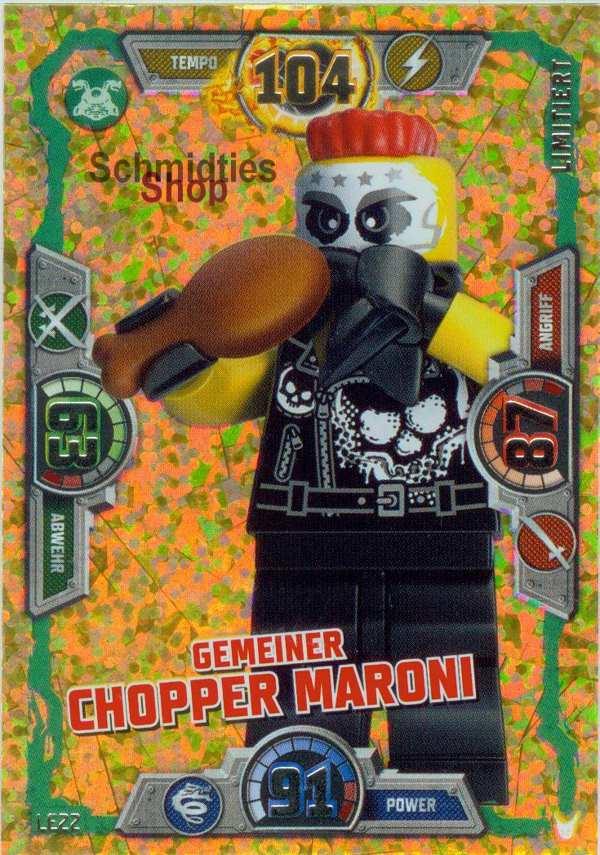 LEGO®NINJAGO Limitierte Goldkarte S-3 Ge. CHOPPER MARONI LE-22