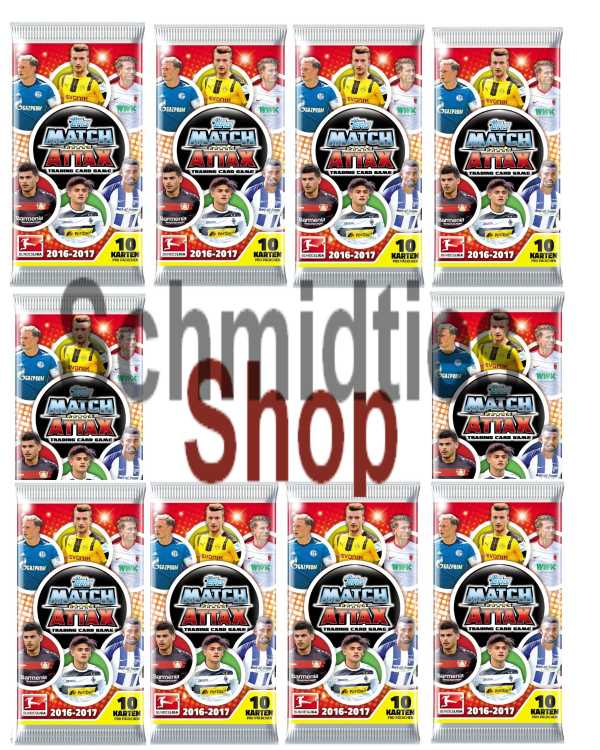 MATCH ATTAX - 10 Booster Tüten- Saison 2016/17