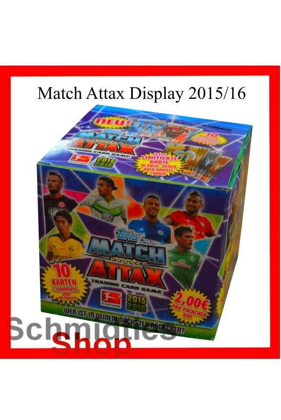 TOPPS MATCH ATTAX - DISPLAY - Saison 2015/16