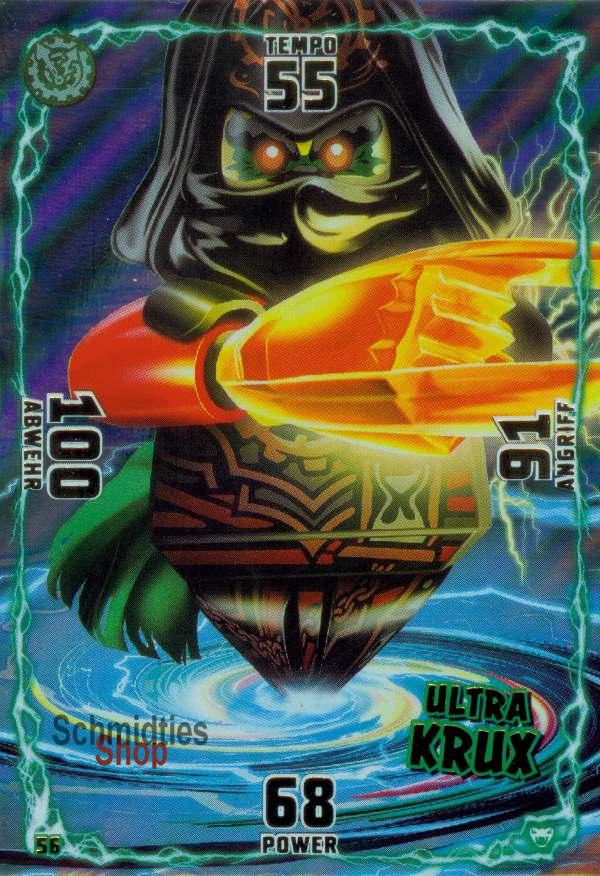 LEGO Ninjago SERIE 2 Sammelkarten Mega Schurken Karte Mega Krux 172
