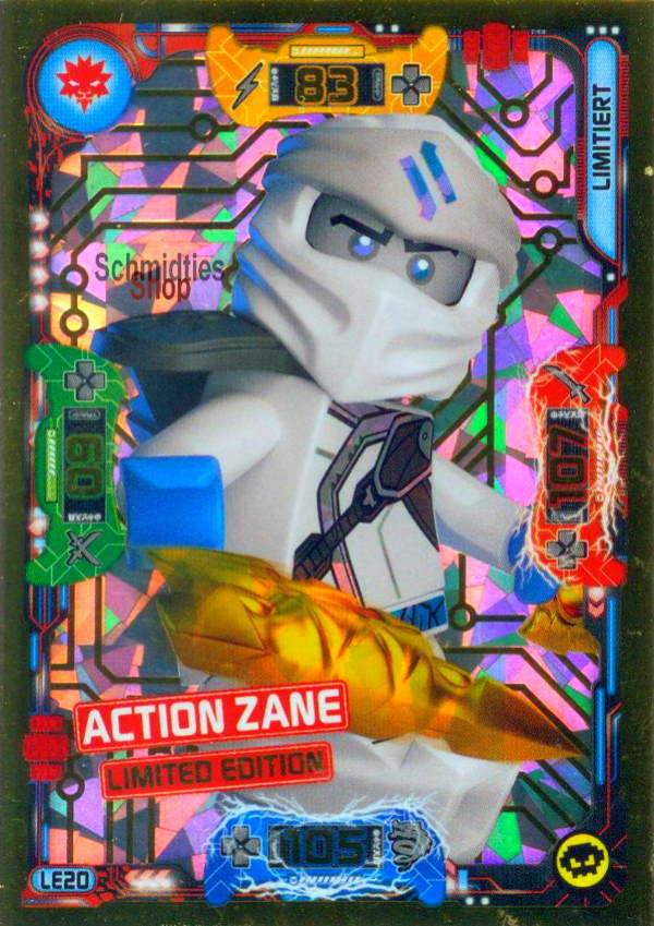 LEGO®NINJAGO Limitierte Karte S-5 - Action Zane LE-20