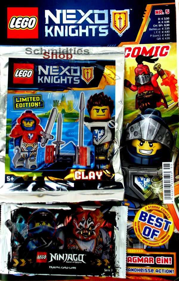 LEGO® Nexo Knights Comic Nr.05/2018 - Clay heizt Magmar ein!