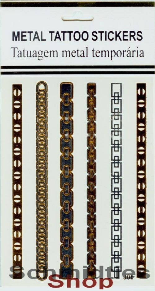 Metal Tattoo Stickers - 1 Bogen mit verschiedenen Motive (Nr.03)