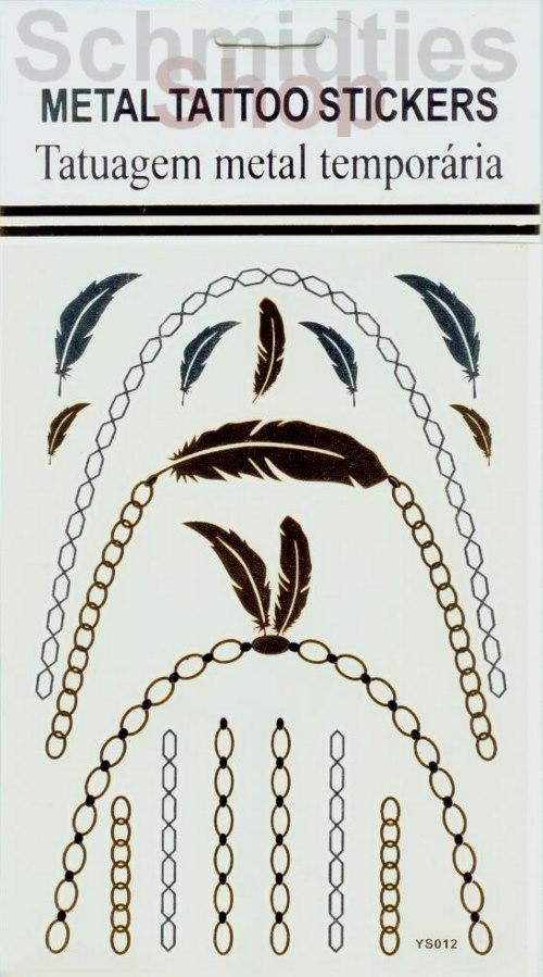 Metal Tattoo Stickers - 1 Bogen mit verschiedenen Motive (Nr.05)