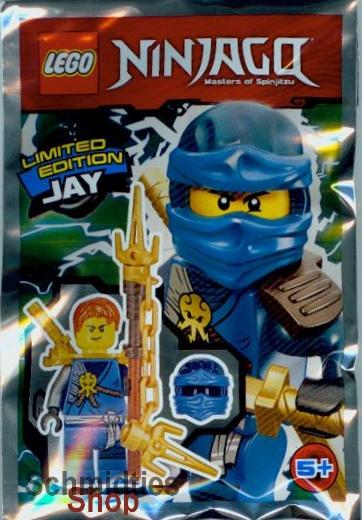 LEGO® NINJAGO™ - Figur Jay mit Maske,Kettenspeer und Schwert