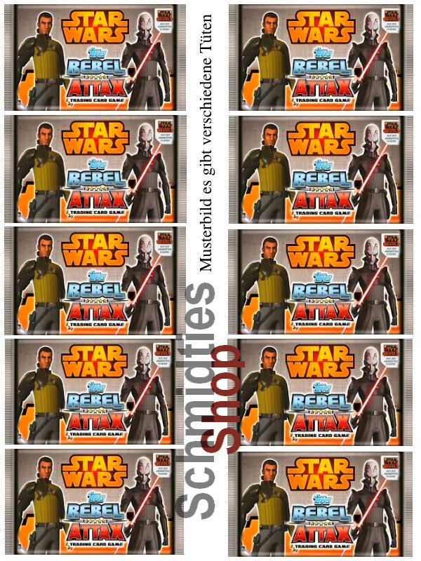 Topps Star Wars - Rebel Attax Serie 1 - 10-Booster a 5 Karten