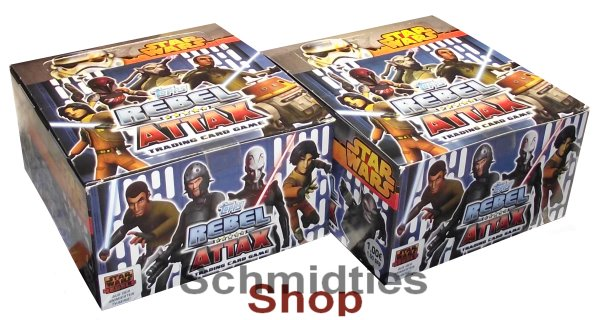 Topps Star Wars - Rebel Attax Serie 2 Display - 50x 5er-Booster