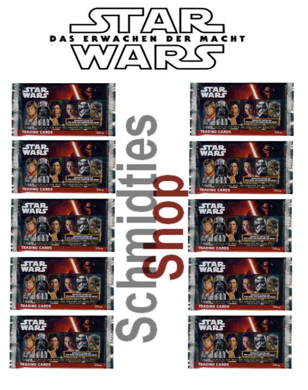 Topps Star Wars - Das erwachen der Macht Booster -10 Booster Tüt