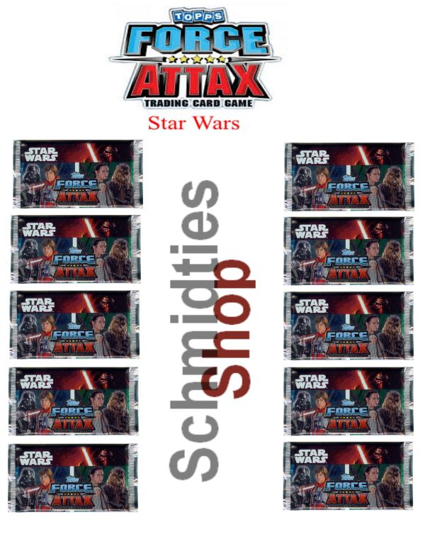 Topps Star Wars - Force Attax Serie 7 - 10-Booster a 10 Karten