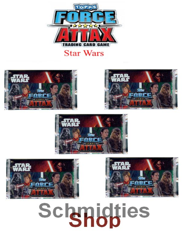 Topps Star Wars - Force Attax Serie 7 - 5 -Booster a 10 Karten